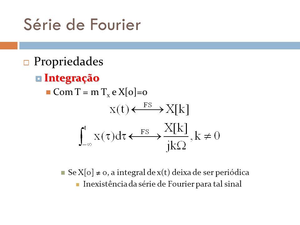 Série de Fourier Propriedades Integração Com T = m Tx e X[0]=0
